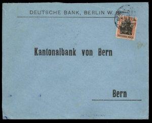Germany 1916 Germania Wmk Cover Single Frank to Bern Switzerland 96784