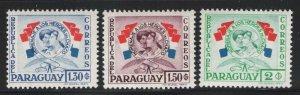 Paraguay 1957 Heroes of Chaco War set Sc# 508-19 NH