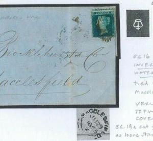 GB SG.19a Cover *INVERTED WATERMARK* 2d Blue sc16 Plate 4 Macclesfield Bank V49