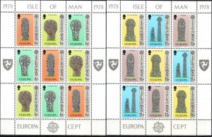 Isle Of Man. 1978. Small sheet 122-27. Europe. MNH.