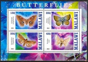 Malawi 2013 Butterflies (1) MNH Cinderella !