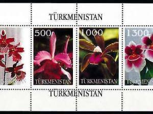 [79947] Turkmenistan Local Issue  Flora Flowers Blumen Orchids Sheet MNH