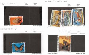 Lot of 23 Djibouti Used Stamps Scott Range 508 - 598 & C110 - C228 #137183 R