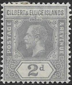 Gilbert  & Ellice  16    1916  2d  fine mint - hinged