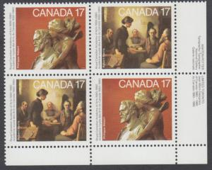 Canada - #850a Academy Of Arts Plate Block - MNH