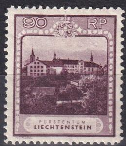 Liechtenstein #104 F-VF Unused  CV $105.00  Z683