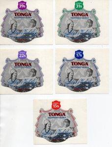 Tonga C209-C213 MNH .