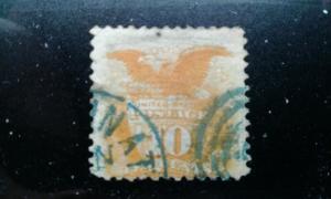 US #116 used thin blue cancel e195.4206