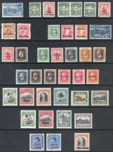 Niue - New Zealand 1902-1928 Collection SG 2-49 Scott 2-47a MLH Cat £224($275)+