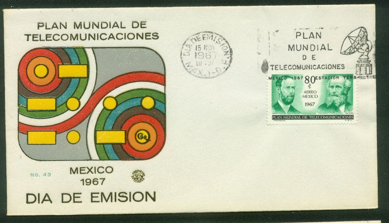 MEXICO C332, INTL TELECOMMUNICATIONS PLAN CONFERENCE. FDC VF. (128)