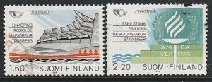 1986 Finland - Sc 738-9 - used VF - 2 single - Nordic Cooperation