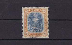 jamaica used  5 shilling stamp  ref r15625