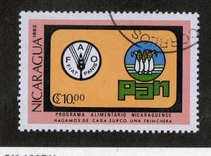 NICARAGUA 1186 USED SCV $1.25 BIN $0.50 CORN