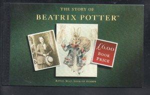 Great Britain Sc BK158 1993 Beatrix Potter stamp booklet mint NH