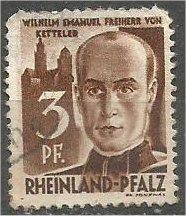 RHINE PALATINATE, 1947, used 3pf, von Ketteler, Scott 6N2