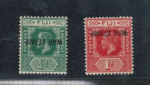 Fiji #MR1a - #MR2c (SG #138c - #139ac) Very Fine Mint Full Original Gum Hinged