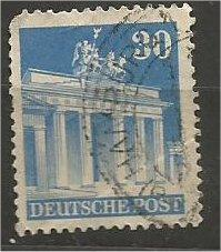 GERMANY, 1948, used 30pf blue, Brandenburg Scott 649a