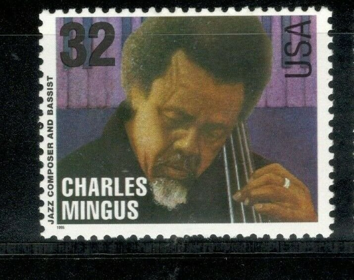 2989 Charles Mingus (Jazz Composer & Bassist) Mint/nh Free Shipping