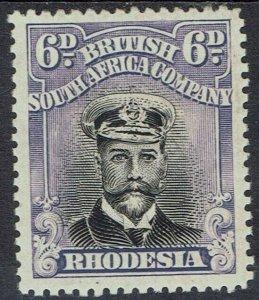 RHODESIA 1922 KGV ADMIRAL 6D DIE III PERF 15