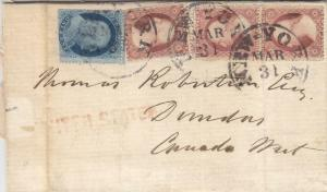 1858, New York, NY to Dundas, Upper Canada, See Remark (23300)