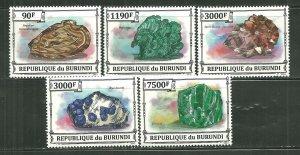 Burundi MNH Set Of 5 Minerals 2013