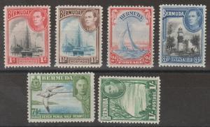 BERMUDA 1938 KGVI PICTORIAL RANGE TO 1/-