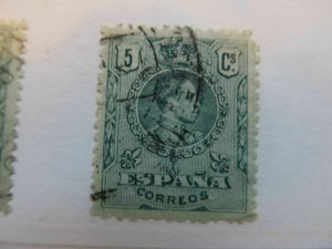 Spanien España Spain 1909-17 Medallion 5c fine used A5P3F39