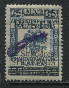 Albania 1919 25 qintars on 64 heller mint hinged