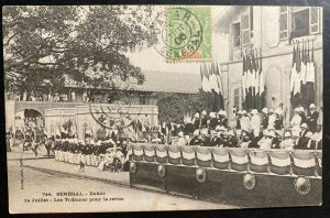 1906 Dakar Senegal Real Picture postcard Cover RPPC Troops Review