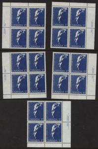 Canada - 1980 Diefenbaker Blocks + Variety Block mint