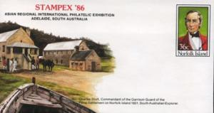 NORFOLK IS. 1986 - Pre-stamped Cover-No.18 Explorer(WF054)