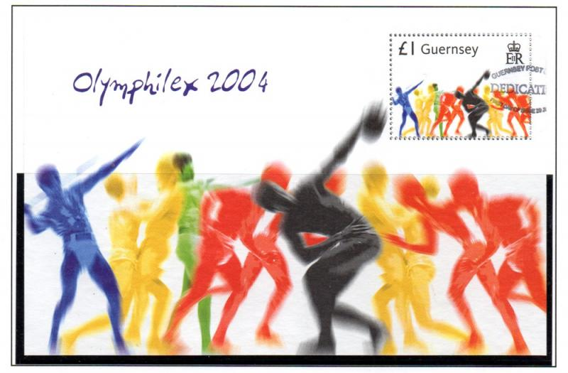 Guernsey Sc 848 2004 Athens Olympics stamp sheet used
