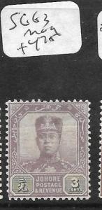 MALAYA JOHORE (P2311B) 3C  SG 63   MOG