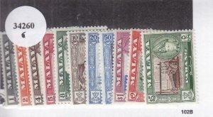Malaya-Pahang: Sc #72-82, MH (34260)