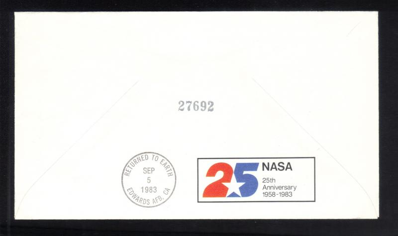 1983 FDC $9.35 Historic Postal Cover Scott #1909 Eagle Kennedy Space Center