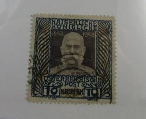 1908 Austria SC #127  FRANZ JOSEF  used stamp