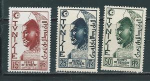 Tunisia 210-2 1950-1 Berber Hermes set NH