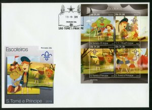 SAO TOME  2019 SCOUTS SHEET FIRST DAY COVER