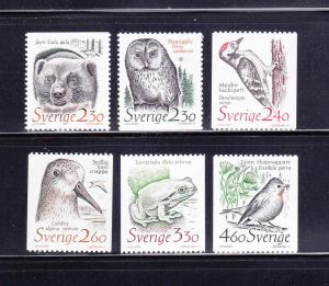 Sweden 1723-1728 Set MNH Wildlife