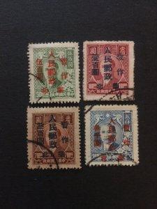 china stamp set, used, liberated area overprint,north china zone, rare, list#121
