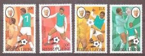 SIERRA LEONE SG702/5 1982 WORLD CUP FOOTBALL MNH