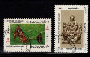 Afghanistan Scott 1037-1038 Used stamp short set