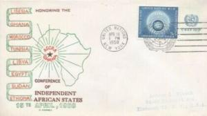 UN CONFERENCE OF AFRICAN STATES 1958 - C. George cachet