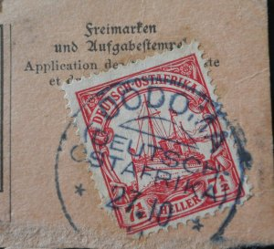 German East Africa 1905 Seven and a Half Heller with DODOMA postmark