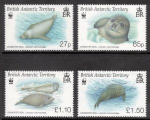 BRITISH ANTARCTIC 2009 Crabeater Seals/ WWF; Scott 410-13, SG 506-09; MNH