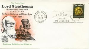 1970 Canada Sir Donald Alexander Smith 531 Cole FDC