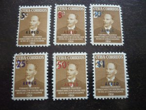 Stamps-Cuba-Scott# C51-C56 - Mint Hinged Set of 6 Stamps-Overprinted &Surcharged