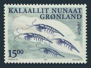 Greenland 386,MNH.Michel 368. EUROPE CEPT-2001.Krill.