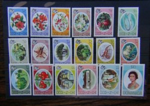 Dominica 1975 set to $10 LMM SG490 - SG507