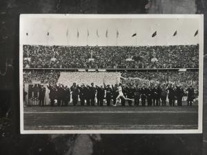 1937 Berlin Germany Olympics RPPC Postcard Cover Track and Field Running Event